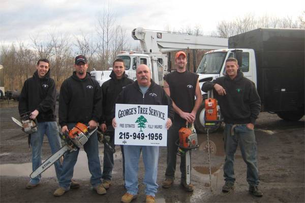 joe george and his highly trained professional staff - Tree Service Business Cards